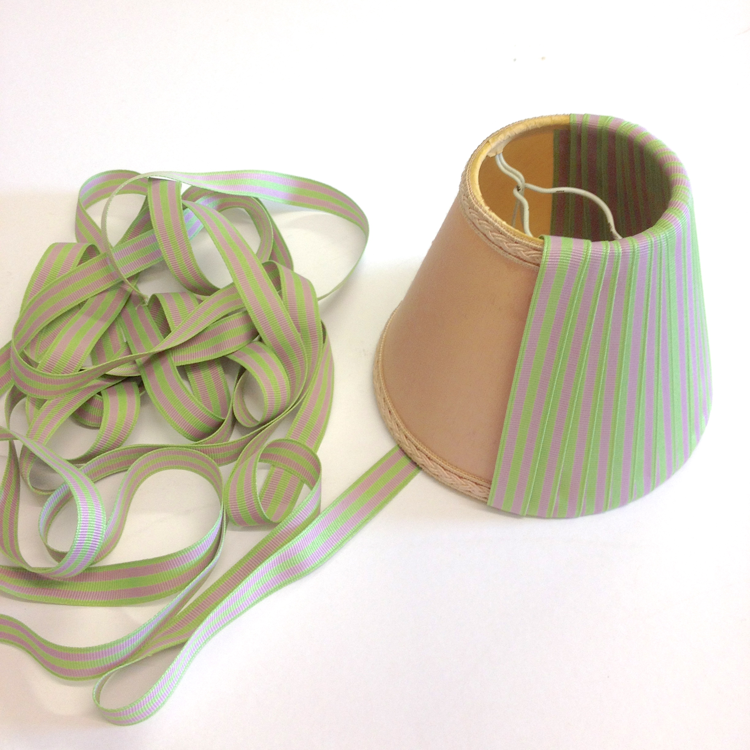 Making a ribbon lampshade jane means continue aloadofball Choice Image