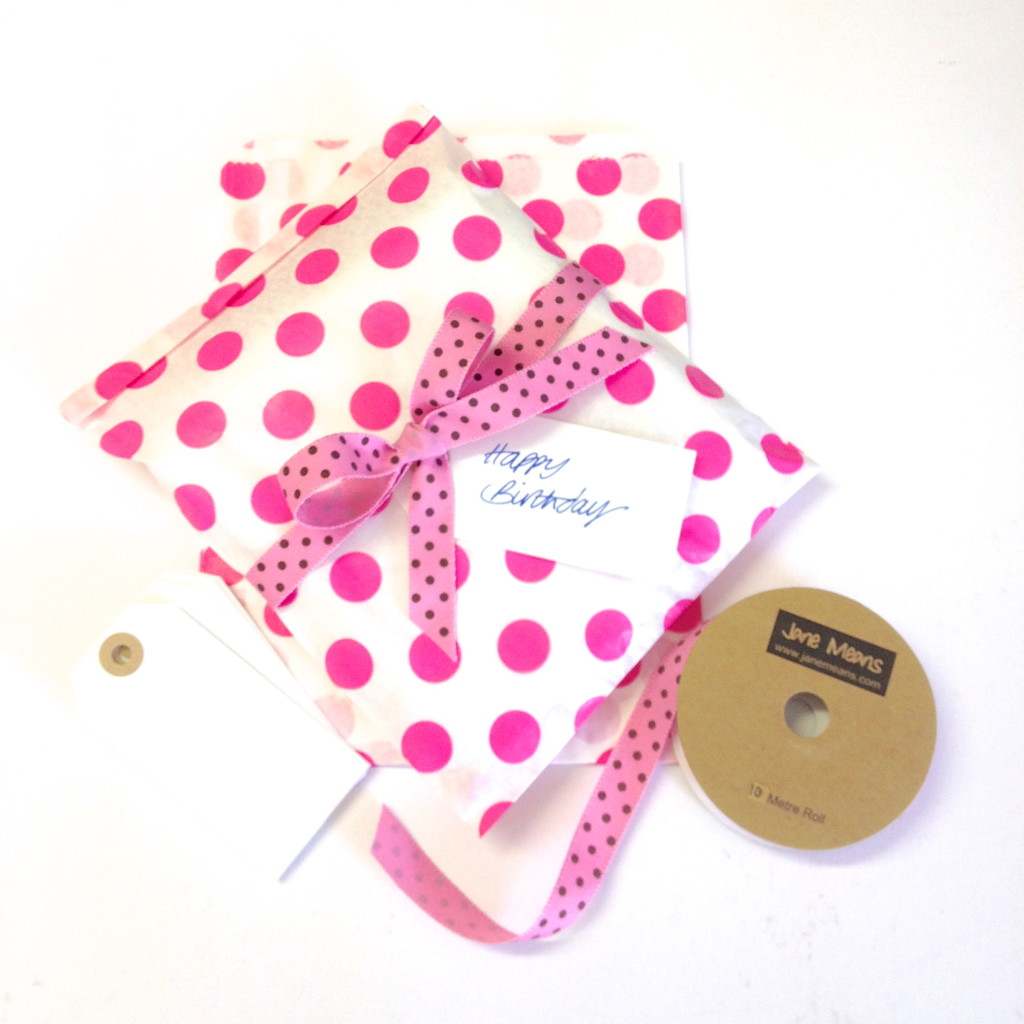 spotty paper bags