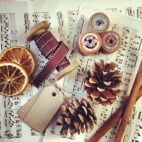 Music paper for gift wrapping
