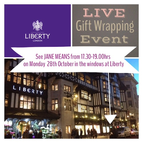 Liberty gift wrapping event copy