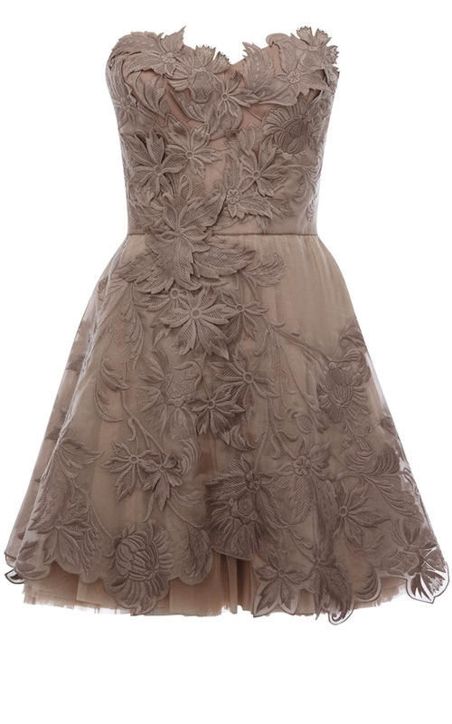Karen Millen Romantic embroidery dress pale pink DN163_3