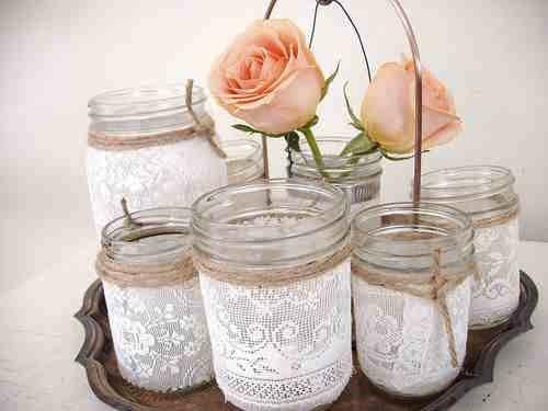 Lace jam jars