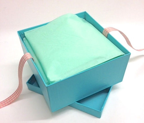 Turquoise tissue and box