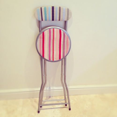 ribbon creative stool