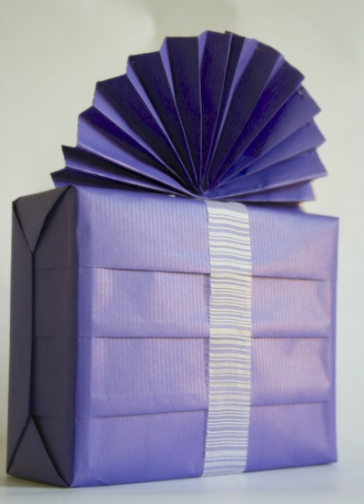 Purple pleated boxPurple pleated box