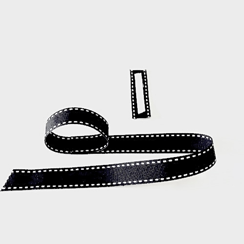 Black stitched ribbon project