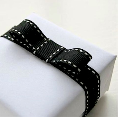 Black stitched ribbon
