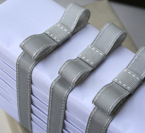 grey stitched