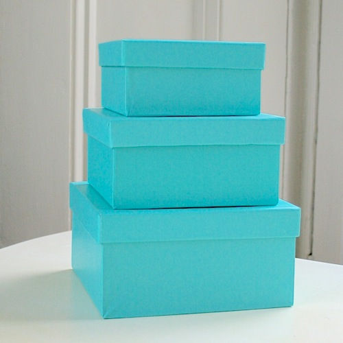 turquoise gift boxes
