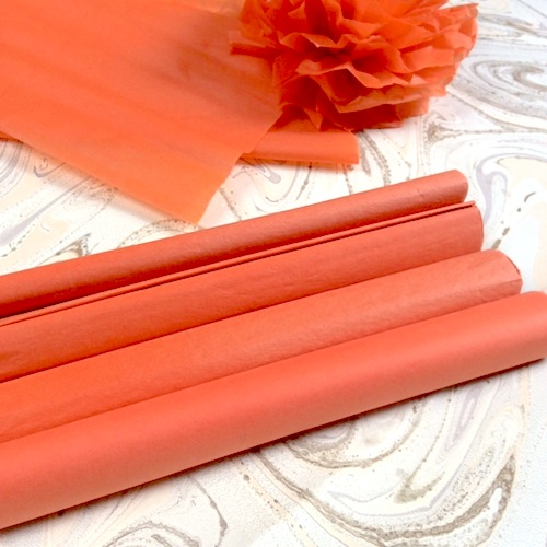 rolls of orange tissue