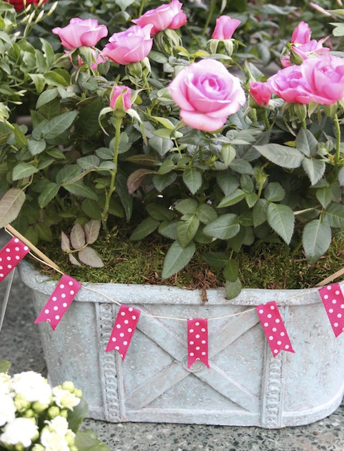 Jane Means ribbon bunting