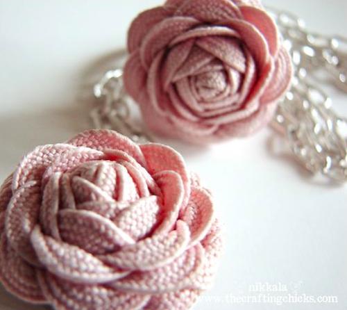 pink ric rac flower