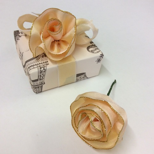 ribbon rose step 7
