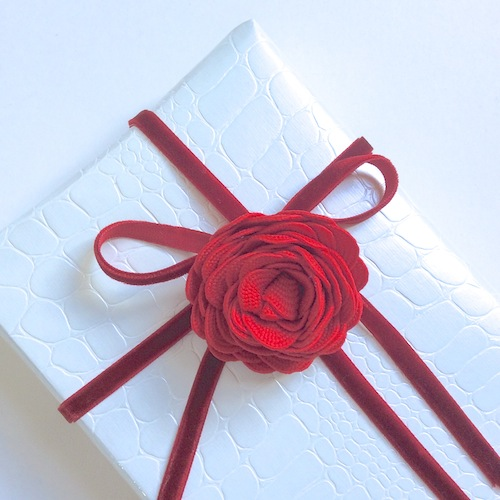 white red gift wrapping