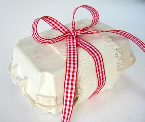 egg box eco gift wrapping