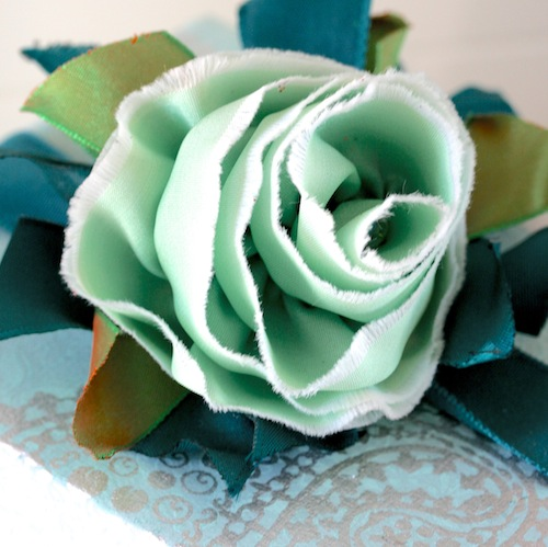 DIY ribbon rose tutorial