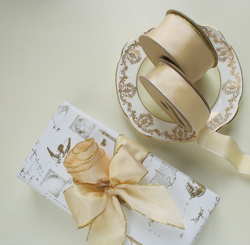 light gold wedding ribbon