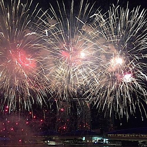 Singapore SG50 fireworks