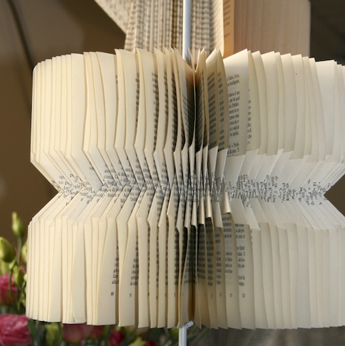 upcycle book pages project