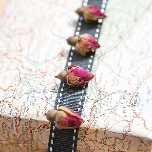 Vintage map wrapping