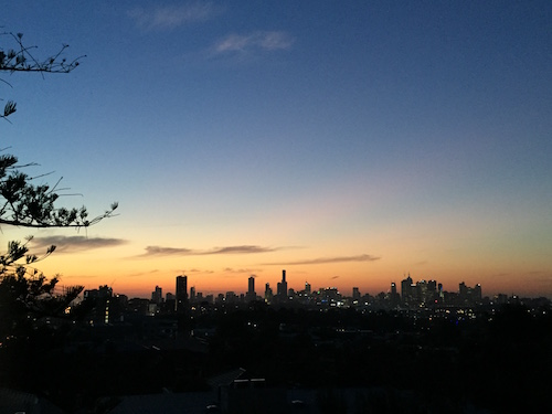 Melbourne Sunset skyline