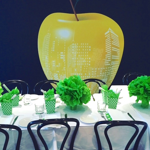 lime green table decoration