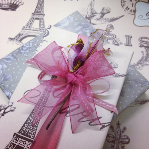 Paris gift wrapping