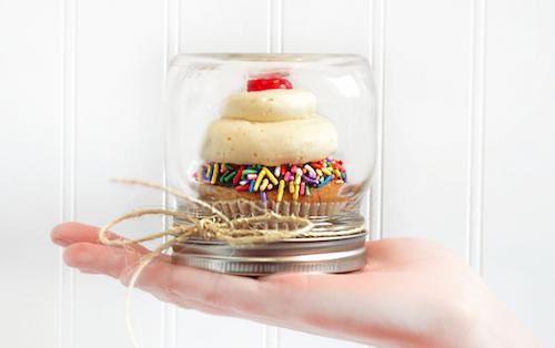 jar of wedding cake