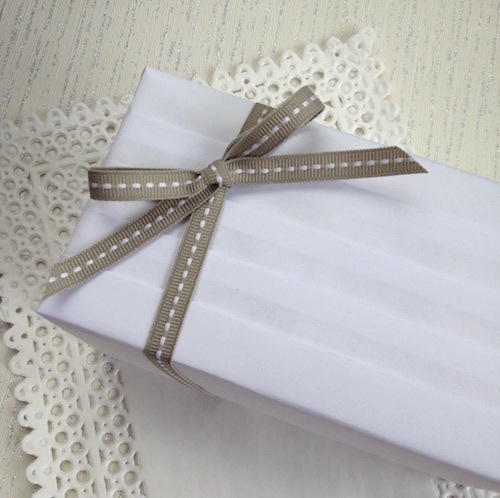 pleated wedding gift