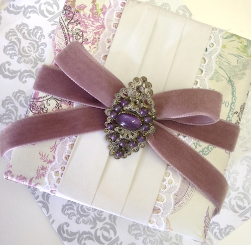 gift wrapped wedding