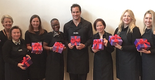 Gift wrapping staff London