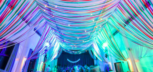 Ribbon Curtains And Canopies For Weddings Parties And