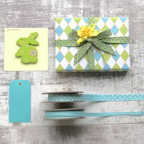 My favourite spring styling and easter gift wrapping ideas ribbon tag and wrap by jane means negle Choice Image